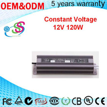 120W constant volatge 12Vdc led power for led module waterproof 120w 12v led module power supply