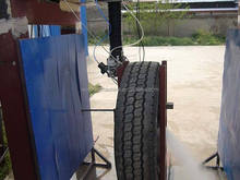 water jet cutting tyre, rubber cutting by water jet , water jet