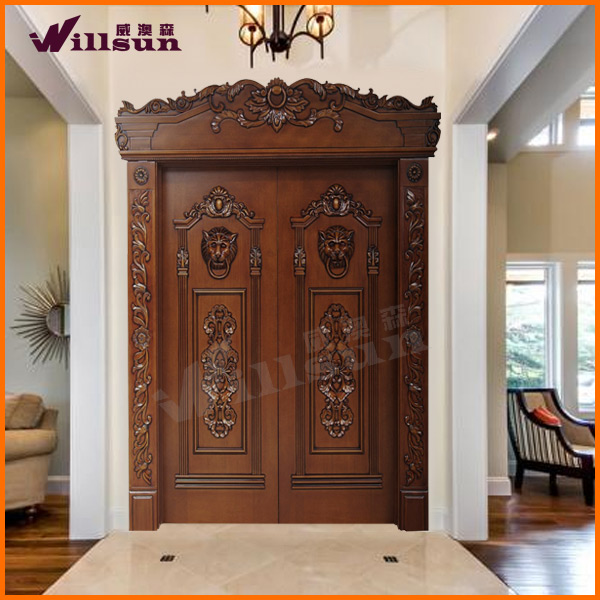 Teak wood main door kerala quotes for Traditional main door design