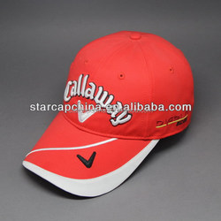 2015 POPULAR CUSTOM 3D EMBROIDERY PROMOTION GOLF CAPS WITH SIDE POCKET