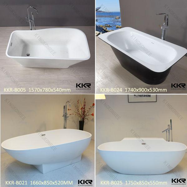 Marble stone shower tub, freestanding/portable/pedestal solid surface bathtub