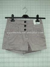 señoras corto popular de rayas verticales pantalones de jean