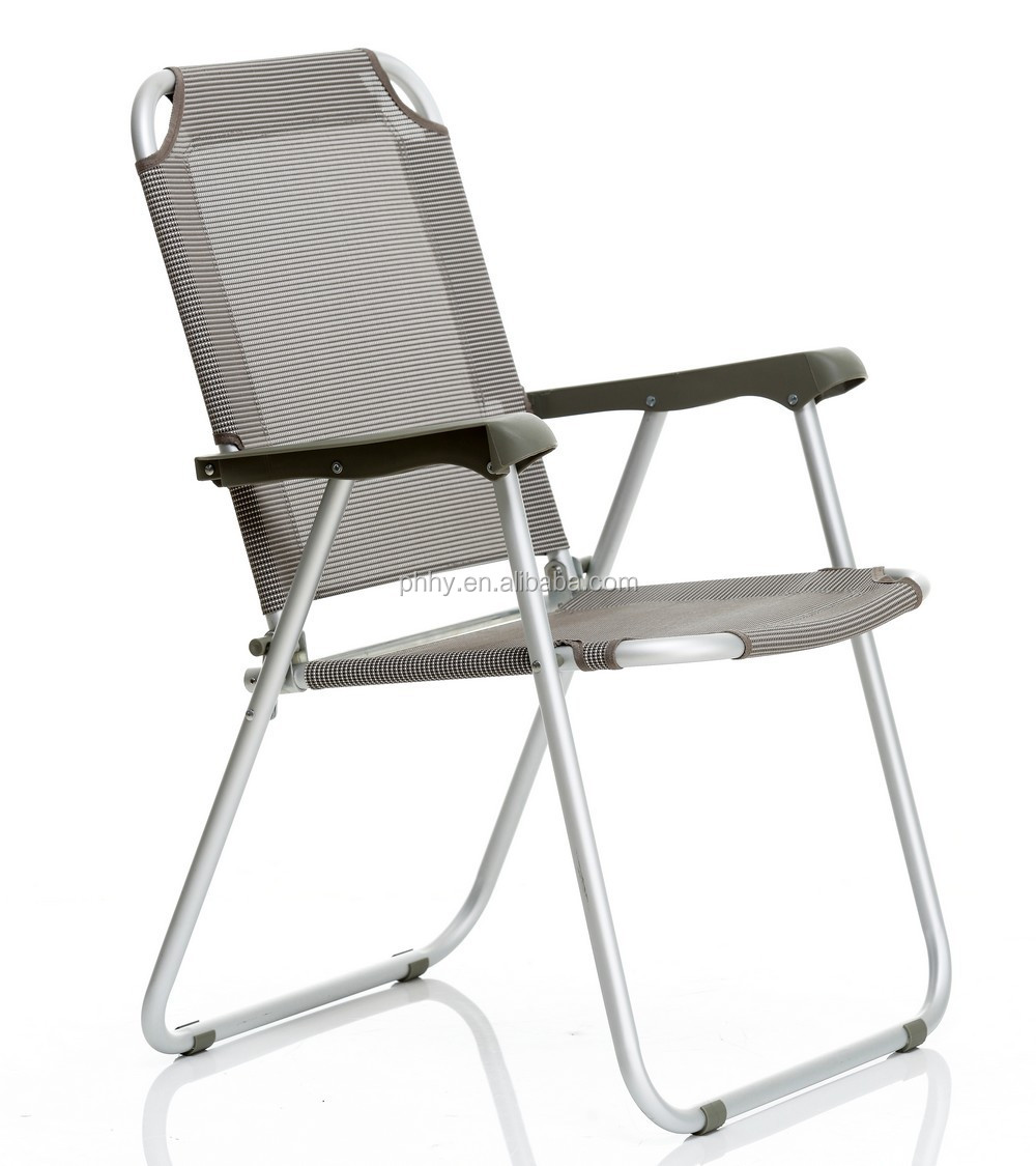 Aluminum Camping Folding Chair With 600d Fabric And Backrest With Plastic Arm