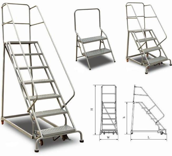 Dur vel escada de a o com rodas escadas id do produto - Escaleras para almacenes ...