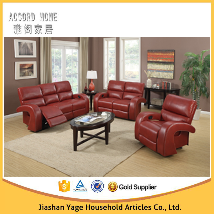 2015 Modern Design Living Room Furniture Leather Reclining