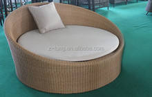 Rattan round outdoor daybed sofa ZT-3033S