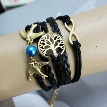 DIY Gold Lucky Tree Bracelt Dove Bracelt 8 Bracelet Bird of speace Bracelet