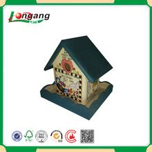 printing bird feeder eco-friendly wood bird house /drawing bird crafts pine
