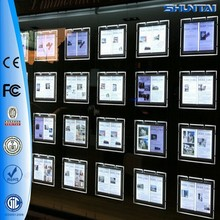 Double faces backlit crystal picture acrylic windows display led