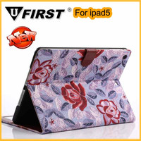 New arrived high quality cover case for ipad5.beautiful leather sheath cover case for ipad5