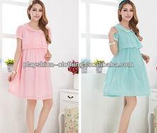pregnant women wedding dress hot summer korean new chiffon long dress