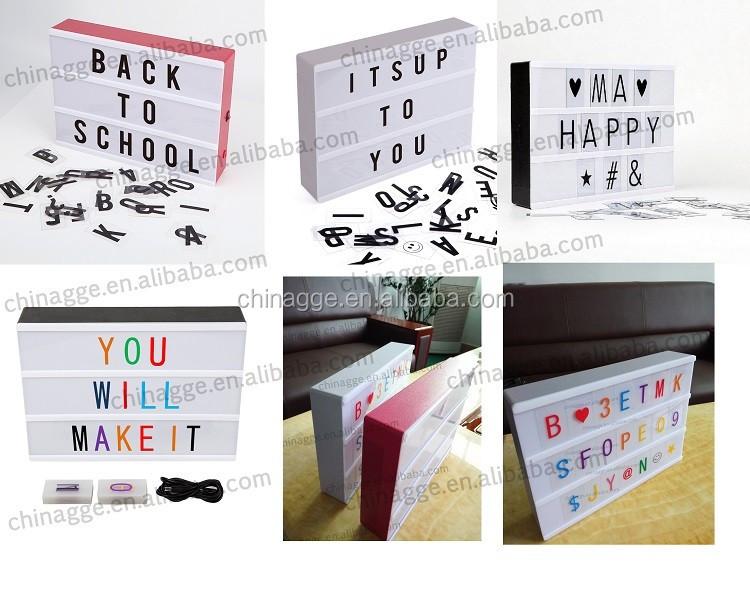 couleur lettres interchangeables pour lightbox cin ma. Black Bedroom Furniture Sets. Home Design Ideas