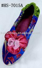 fashion silk ladies soft bedroom slippers