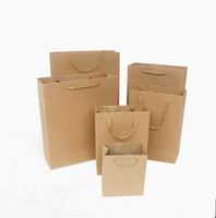 Brown Paper Shopping Bag Printing with Logo