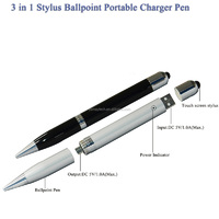 3-in-1 Power Bank with Ballpoint Pen and Stylus Pen
