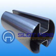 stainless steel double slot tube 180deg