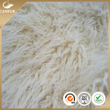 Artificial long pile plush curly fake fur