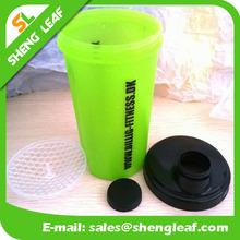 UV printing custom logo protein shaker cup plastic protein shaker bottle