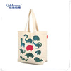 2014 Newest Popular Fashion Ladies canvas shopping bag with logo print