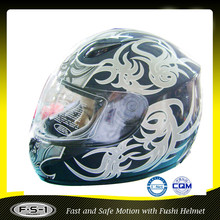 black flower full face low price motorcycle helmet