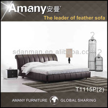 2013 Arab design leather round bed T1115P