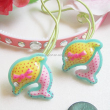 JP17 Hot sale cute dolphins with diamond hair bands for kids 2015