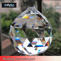 DIY crystal ball for chandelier for wedding stage decoration