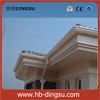 White cheap plastic rain gutter for roof drainage system