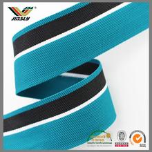 2.2cm premium blue grey stripes plain weave cotton webbing