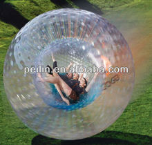 Exciting sport inflatable grass zorb ball