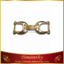 Decorative garment accessory gold metal belt buckle