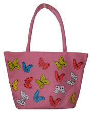 Top Sale 600D PVC Flower Printed Foldable Shopping Bags