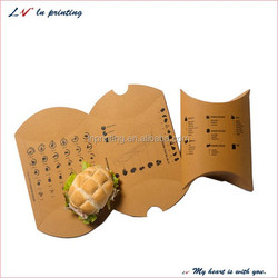 high quality pillow packaging box, kraft pillow paper box