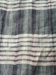 stripe linen fabric for dress