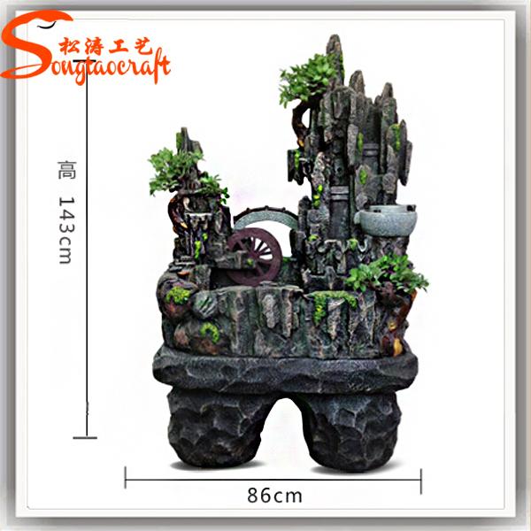 2015 Guangzhou wholesale indoor mini water pump fiberglass fish pond artificial ...