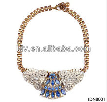 Glass Young Eagle Wings Crystal Pendant Shiny Fashion Necklace