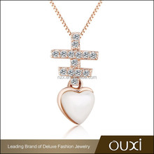 2015 OUXI fashion changeable pendant necklace made with Austrian cyrstal 11394