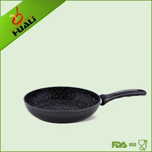 aluminium forged non-stick marble coating frypan with white dot