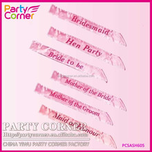 Pink Hen Night Sash Bride Accessories Party Sashes Girls Night Out