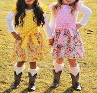 100% cotton summer 2015 new model dresses designer children clothes sets suit