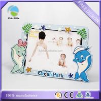 custom ocean park dolphine souvenir soft pvc plastic desk photo frame
