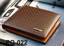 Stylish Men 's de couro fino carteira de bolso cartão Clutch Bifold Purse