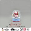 Polyresin 120mm santa claus dog christmas snow globes wholesale