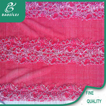 Beautiful gold metallic lace fabric rayon cord lace for peach women dress wholesale