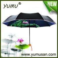 De nuevo desarrollo de UV fuerte a prueba de Mini paraguas plegable a la venta