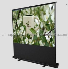 projector screen portable floor pull up screen/Floor standing screen for education and office