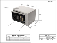 Contemporary new arrival secure kid electronic safes