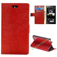 China Wholesale Crazy Horse Texture Flip Leather Case for BlackBerry Z3