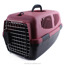 iron door Pet Carrier For Cat Dog Puppy Rabbit Travel Box Basket Cage Outdoor New