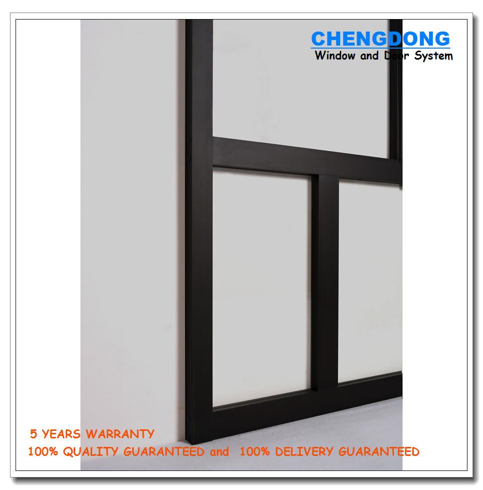 Hot Sale Lattice Glass Door Design Kitchen Swinging Door For